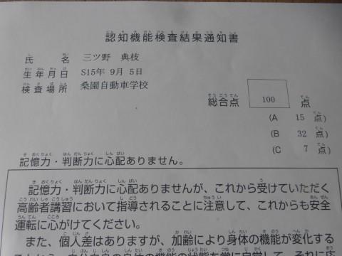 検査結果通知書